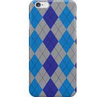 Blue and Gray Argyle iPhone Case/Skin