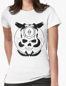 Deaths head Womens Fitted T-Shirt