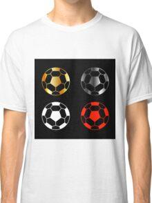 Footballs on black background  Classic T-Shirt