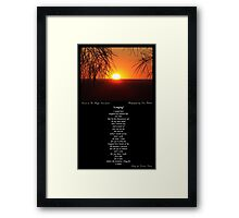 ~ Longing ~ A collaboration with Liza Barlow Framed Print