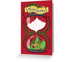 It's Christmas Time! - Snowy hourglass illustration  Greeting Card