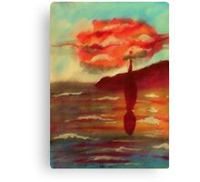 Almost home, waterolor Canvas Print