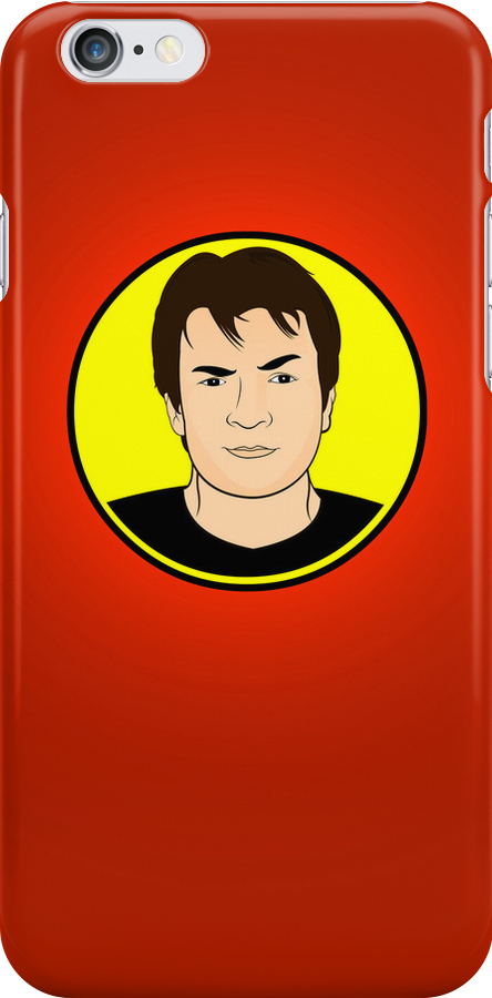 Captain Hammer (Red) iPhone Case  by Tom Trager
