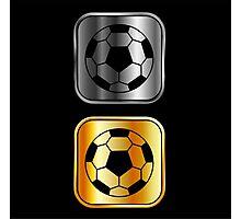 Metallic footballs Photographic Print
