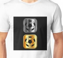 Metallic footballs Unisex T-Shirt