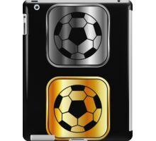 Metallic footballs iPad Case/Skin