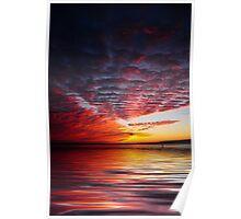 james river sunrise Poster