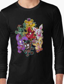 Five Nights at Freddys 1-4 Chibi Long Sleeve T-Shirt