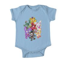 Five Nights at Freddys 1-4 Chibi One Piece - Short Sleeve