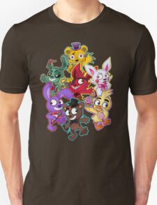 Five Nights at Freddys 1-4 Chibi T-Shirt
