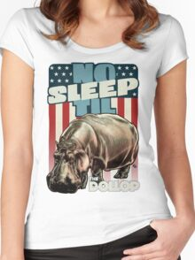 The Dollop - No Sleep Til Hippo (Clothing and Stickers) Women's Fitted Scoop T-Shirt