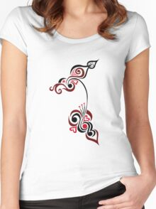 An Elegant Motif Women's Fitted Scoop T-Shirt