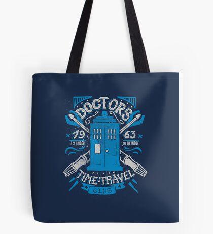 Doctors time travel club Tote Bag
