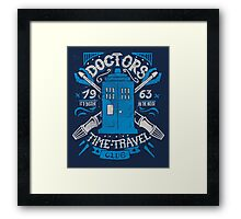 Doctors time travel club Framed Print