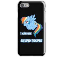 Stupid people iPhone Case/Skin