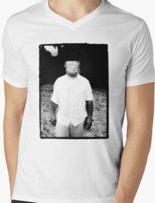 Scratch Face Mens V-Neck T-Shirt