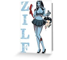 Are you prepared for hot zombies? Greeting Card