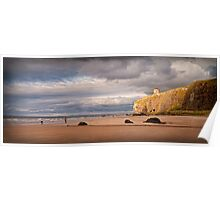 Mussenden Temple at Down hill Beach Poster