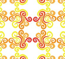Firery Swirls Pattern by Wealie