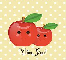 Kawaii Apple Miss You by sweettoothliz