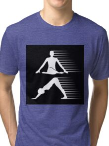 Meditation and yoga energy  Tri-blend T-Shirt