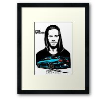 Paul Walker 01 Framed Print