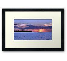 Sunset at Home 2 Framed Print