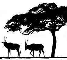 Silhouettes on the African savannah by Maree Clarkson