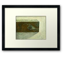 Not exactly perfect submarine Framed Print