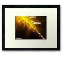 Flaming Sword Of Truth Framed Print