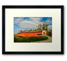 Herr's Mill Covered Bridge Framed Print