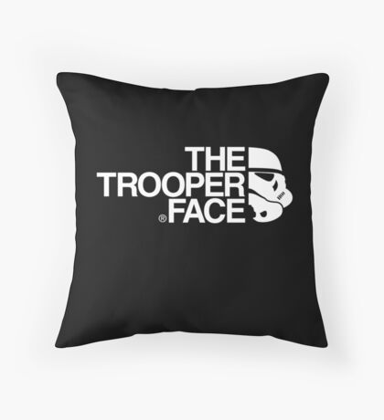 The trooper face Throw Pillow