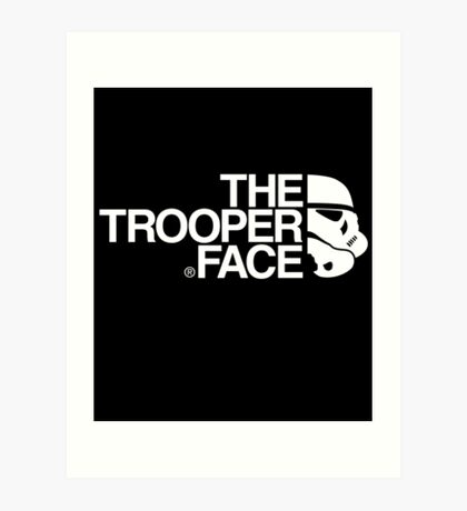 The trooper face Art Print