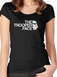The trooper face Women's Fitted Scoop T-Shirt