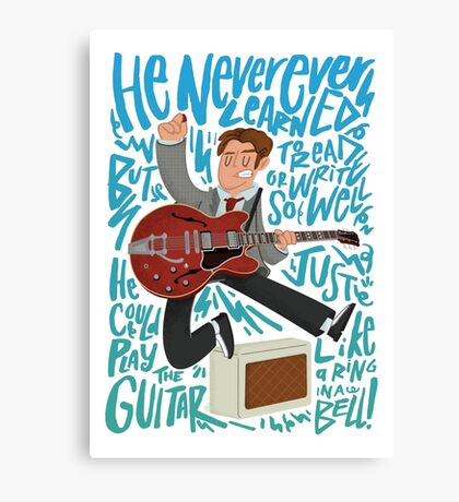 Guitar Heroes - Marty McFly  Canvas Print