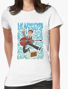 Guitar Heroes - Marty McFly  Womens Fitted T-Shirt