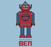 Ben's Robot Tee One Piece - Short Sleeve