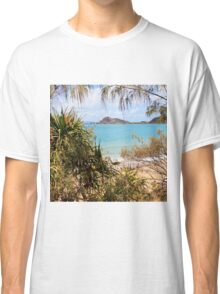 Tranquil bay through the trees Classic T-Shirt