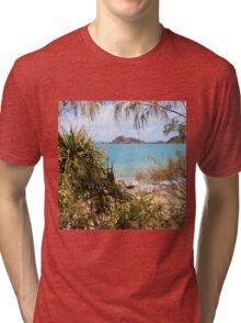 Tranquil bay through the trees Tri-blend T-Shirt