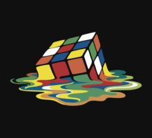 Big Bang Theory Sheldon Cooper Melting Rubik's Cube cool geek Kids Clothes