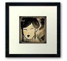 Vintage Style Geisha Framed Print