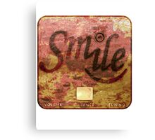 Smile Rust Real Canvas Print