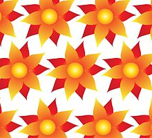 Firery Pinwheel Pattern by Wealie