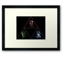 Wielders of the Triforce Framed Print