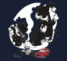 Calvin and Hobbes as The Blues Brothers Parody Satire Teefury Men Shirt DI 012 Kids Clothes