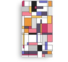 Abstract colored shapes and forms Canvas Print