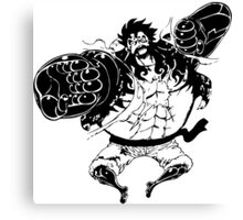Luffy Gear 4 Attack Formation Canvas Print