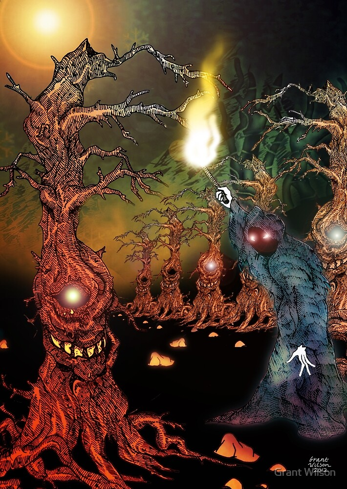 Great Hall of the gnarly Tree Keeper by Grant Wilson