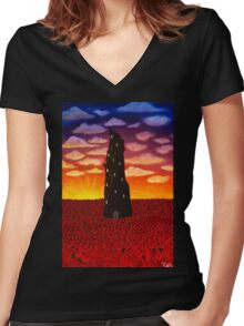 Centre of the Universe Women's Fitted V-Neck T-Shirt