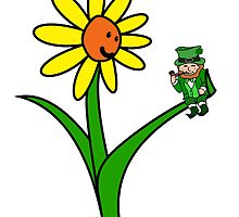 St Patrick's Day Happy Leprechaun flower by ReadiesCards